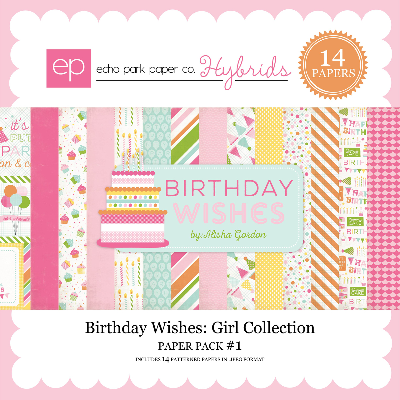 Birthday Wishes Girl Paper Pack 1