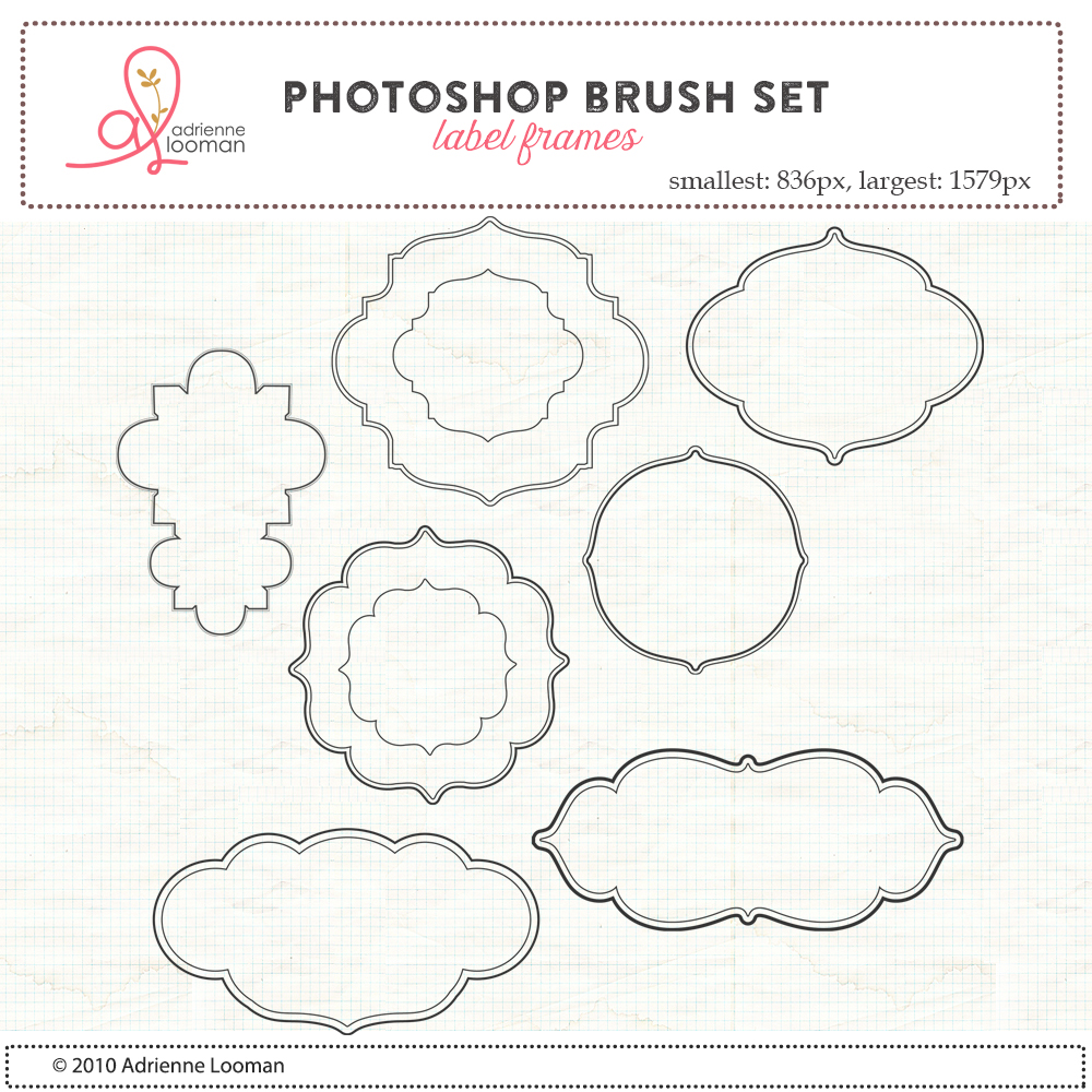 Label Frames Photoshop Brush set