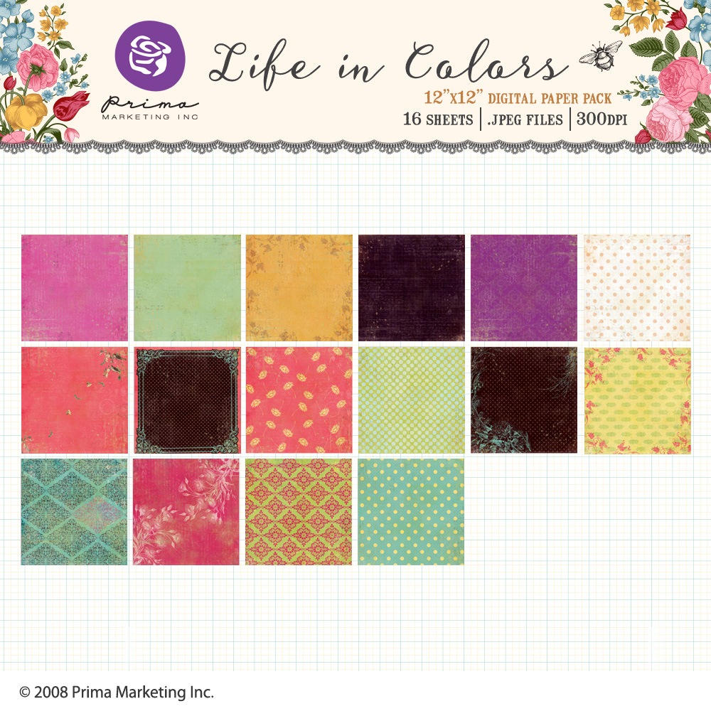 Life In Colors Paper Pack
