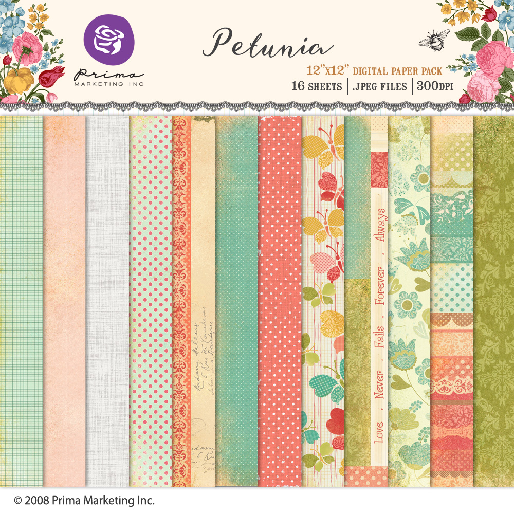Petunia Paper Pack