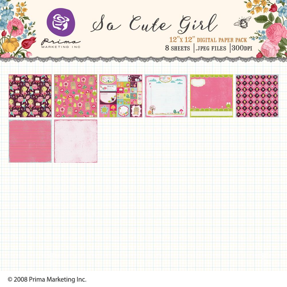 So Cute Girl Paper Pack
