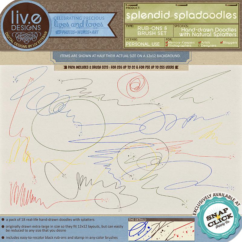liv.edesigns Splendid Spladoodles (Rub-Ons & Brushes)