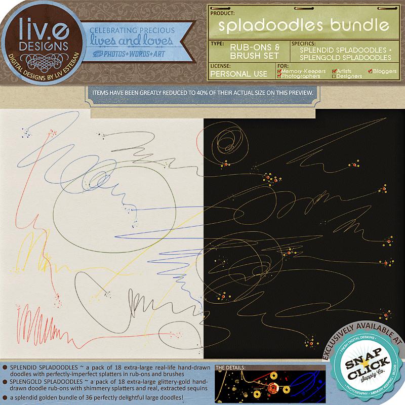 liv.edesigns Spladoodles Bundle - Splendid Spladoodles + Splengold Spladoodles