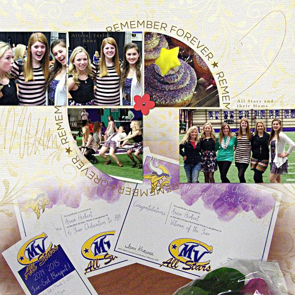 This awesome layout was created by Lisa Breuer too!