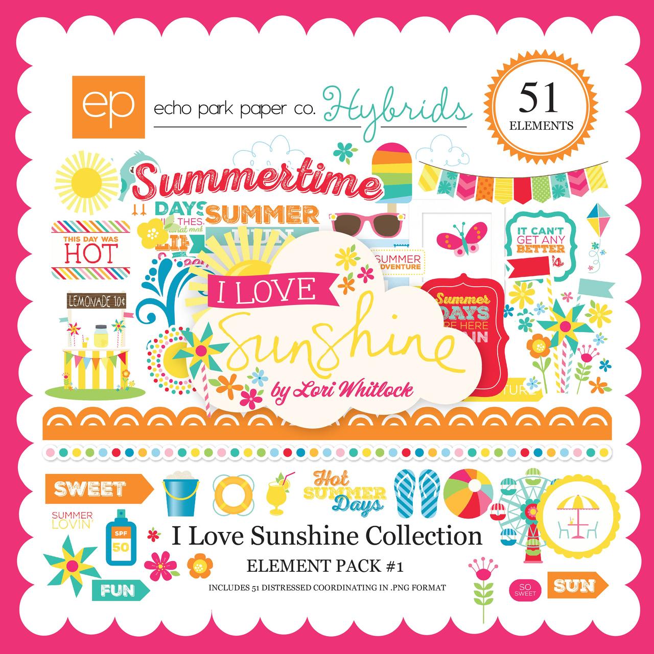 I Love Sunshine Element Pack #1