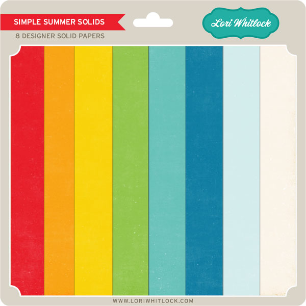 Simple Summer Solids