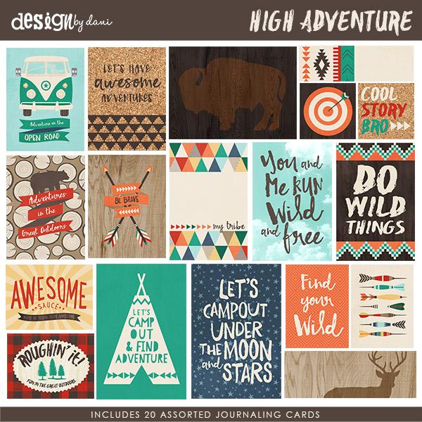 High Adventure Journaling Cards