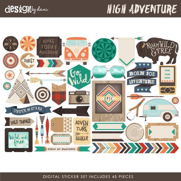 High Adventure Digital Stickers