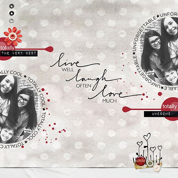 This beautiful layout was created by Miki Krueger!