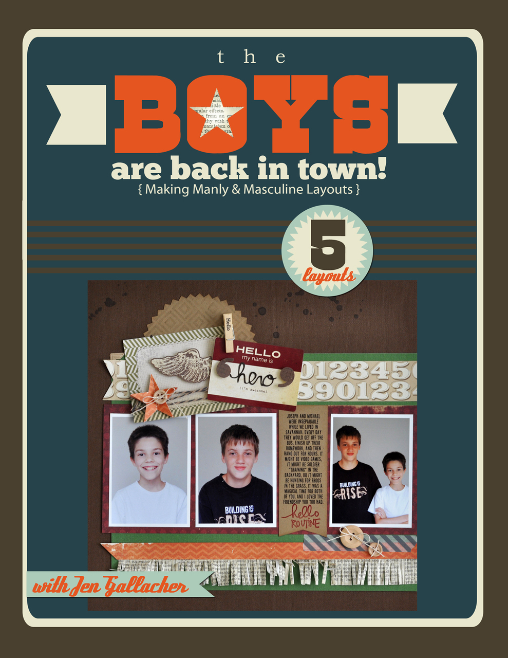 The Boys Are Back In Town: Masculine Scrapbooking EBook