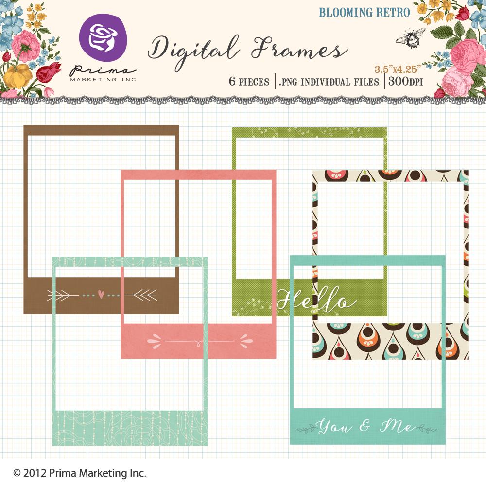 Blooming Retro Digital Frames