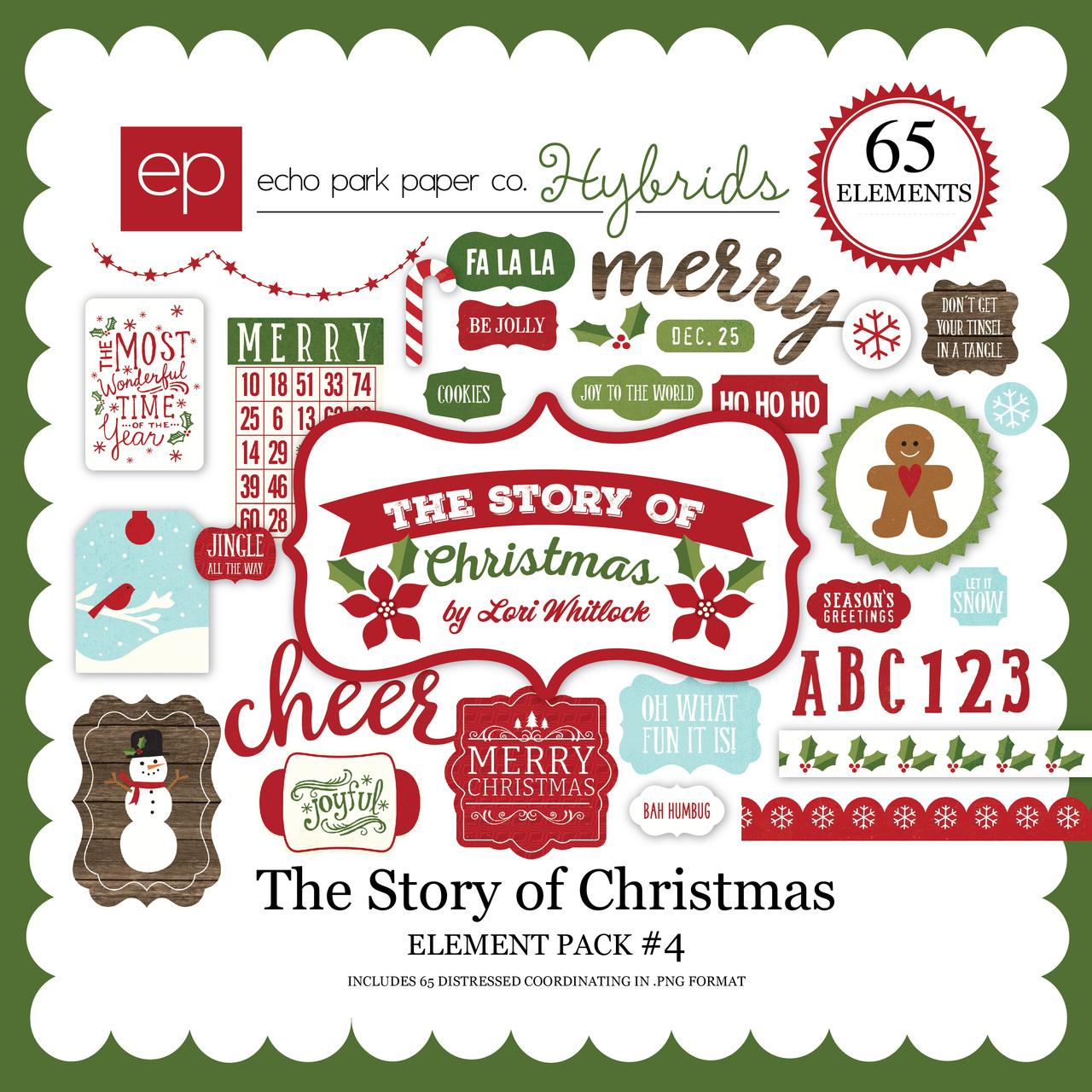 The Story of Christmas Element Pack 4