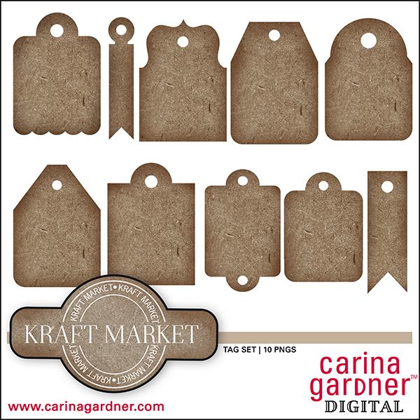 Kraft Market Tag Set
