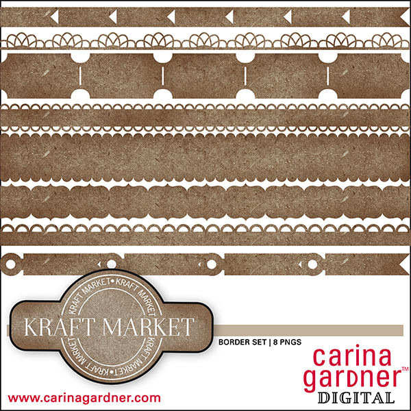 Kraft Market Borders Set