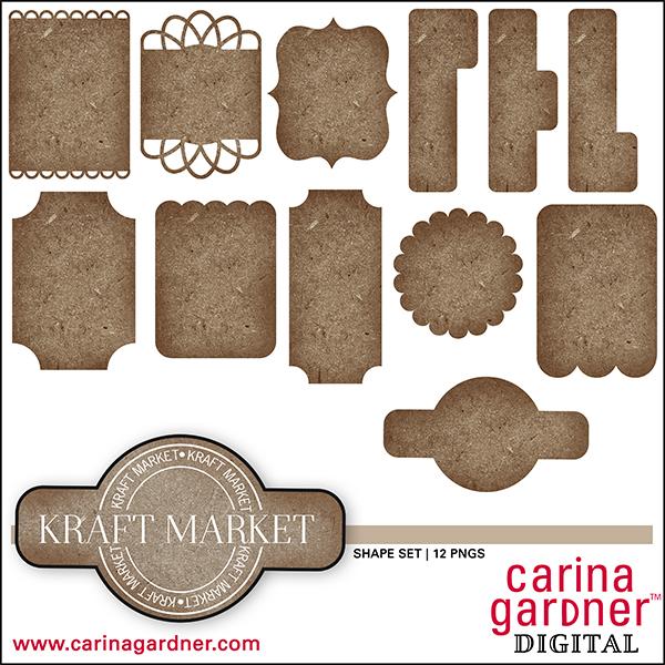 Kraft Market Shape Set