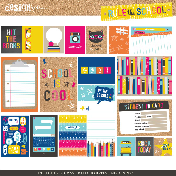 Rule the School Journaling Cards