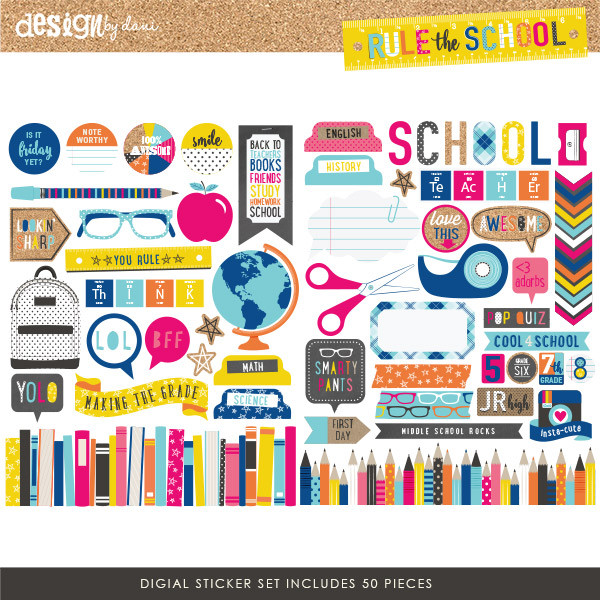 Rule the School Digital Stickers