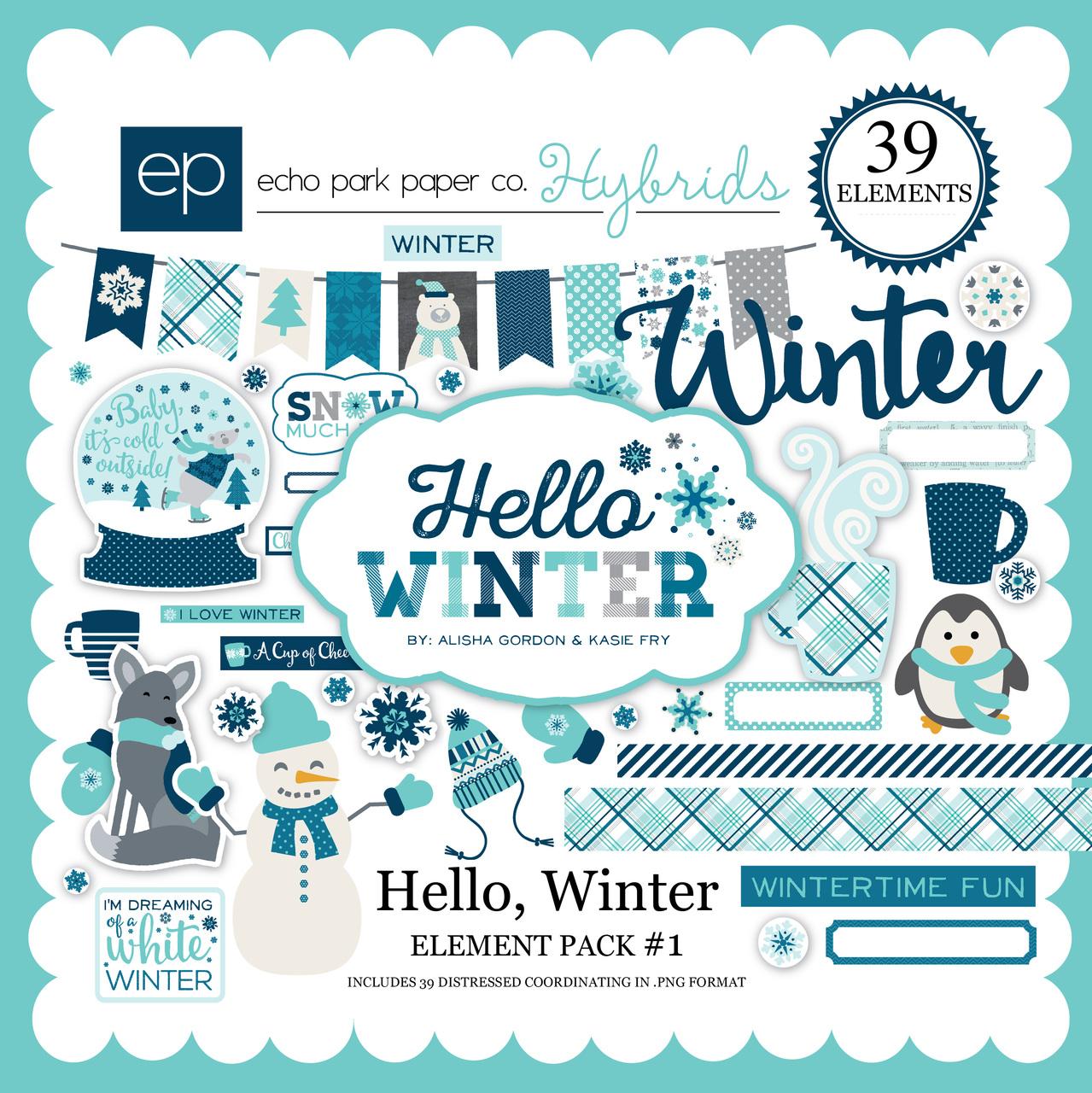 Hello Winter Element Pack 1