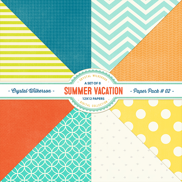 Summer Vacation - Paper Pack #2