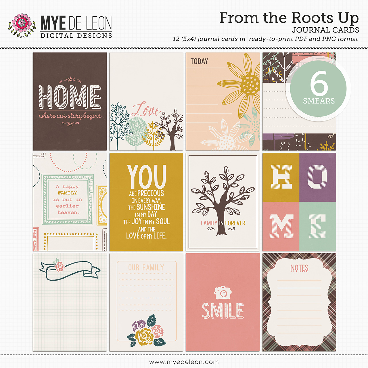 From the Roots Up   Journal Cards