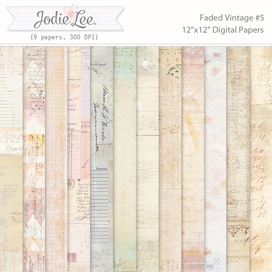 Faded Vintage Papers 5