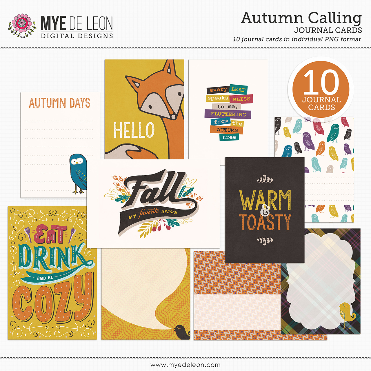 Autumn Calling | Journal Cards