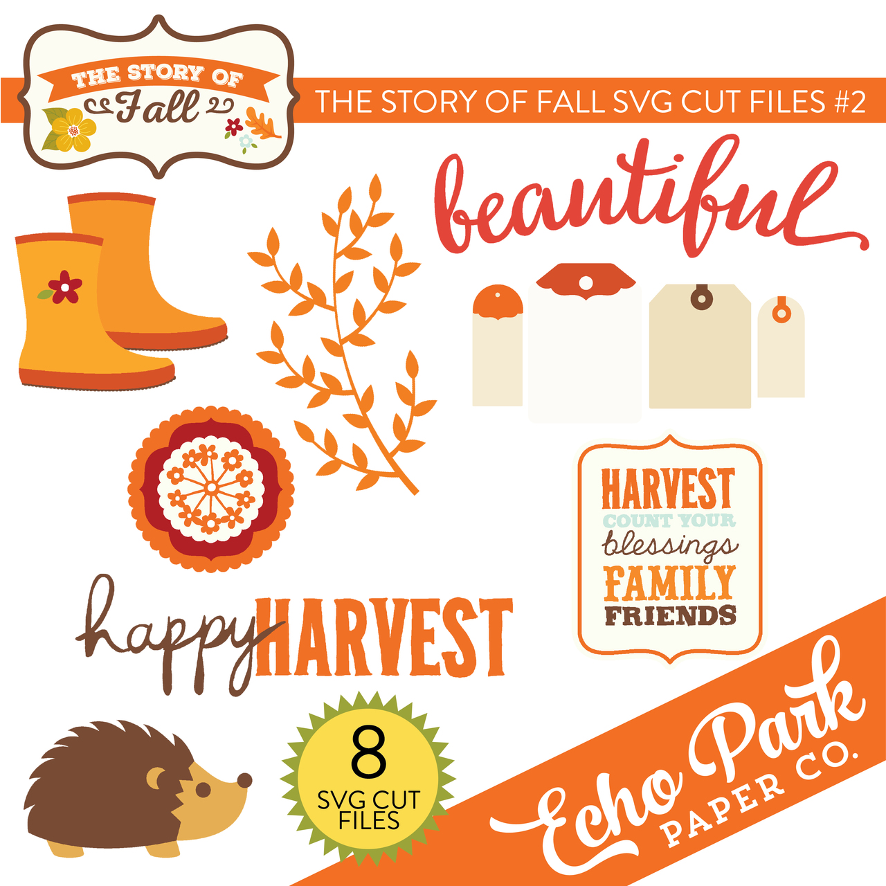 The Story of Fall SVG Cut Files #2