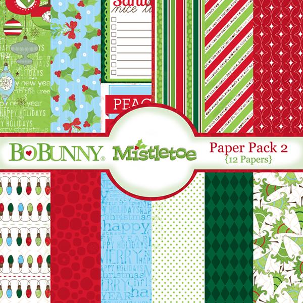 Mistletoe Paper Pack 2