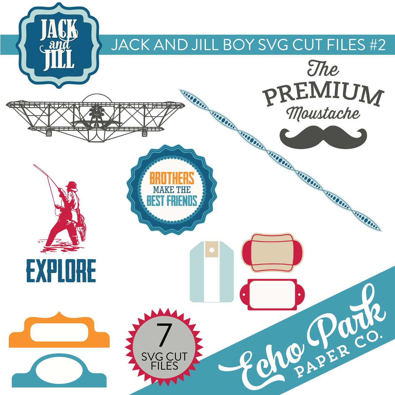 Jack and Jill - Boy SVG Cut Files #2