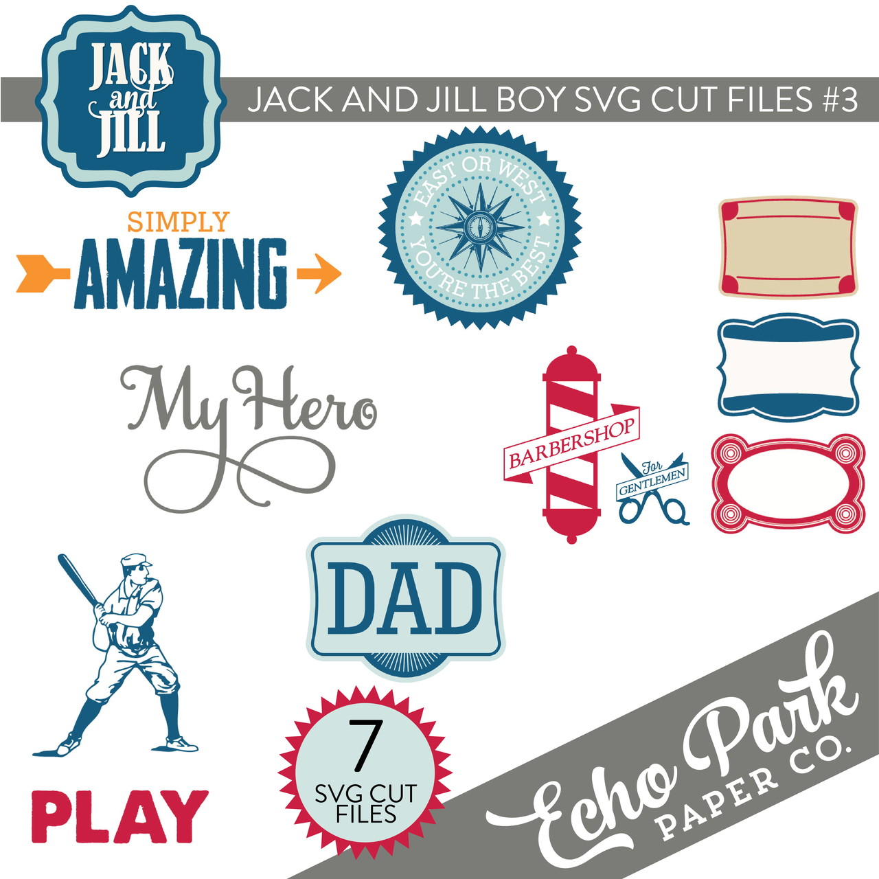 Jack and Jill - Boy SVG Cut Files #3