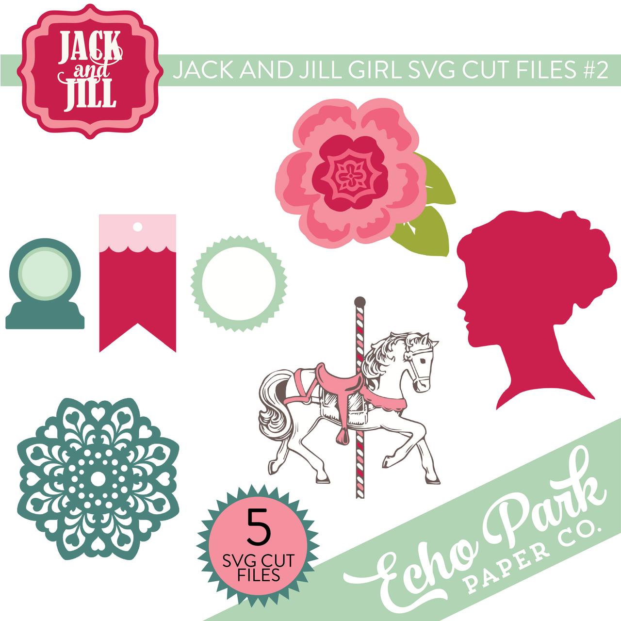 Jack and Jill - Girl SVG Cut Files #2