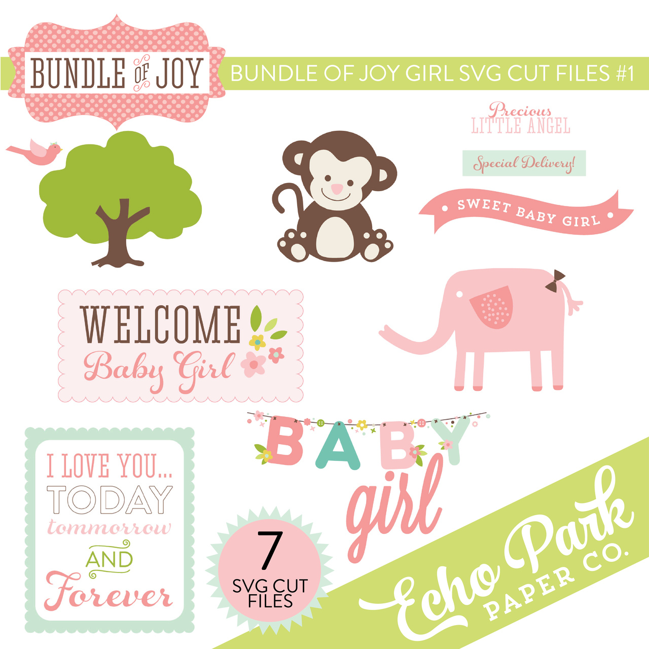 Bundle of Joy - Girl SVG Cut Files #1