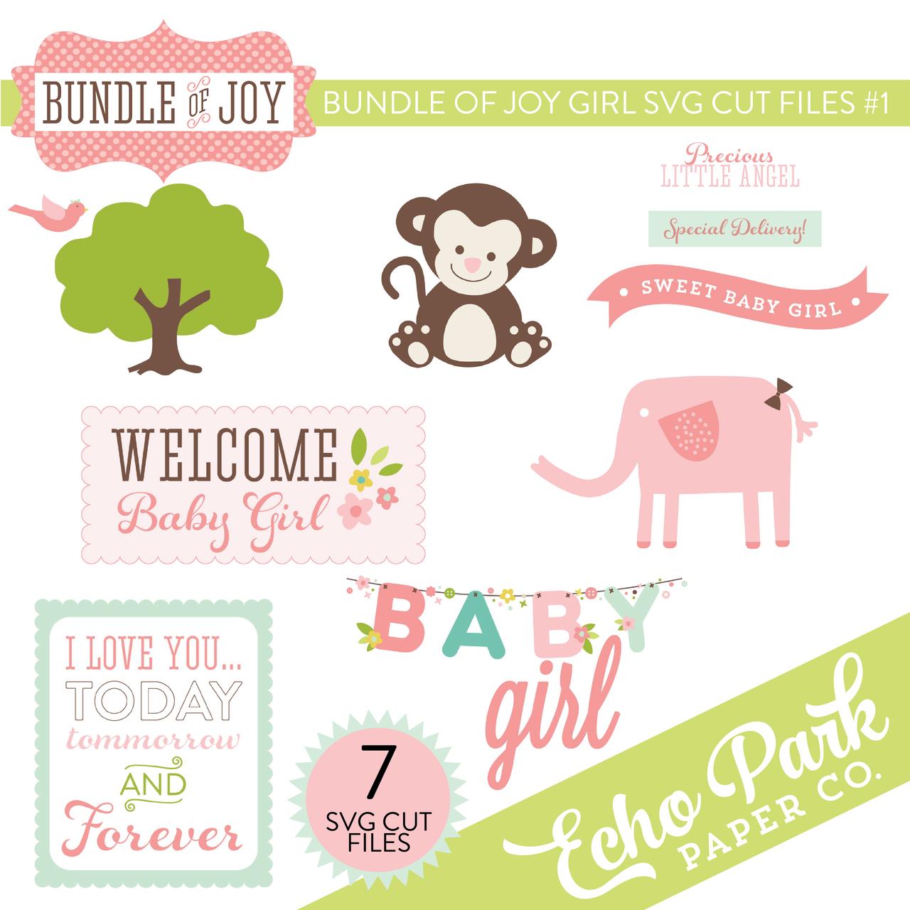 Bundle of Joy - Girl SVG Cut Files #1