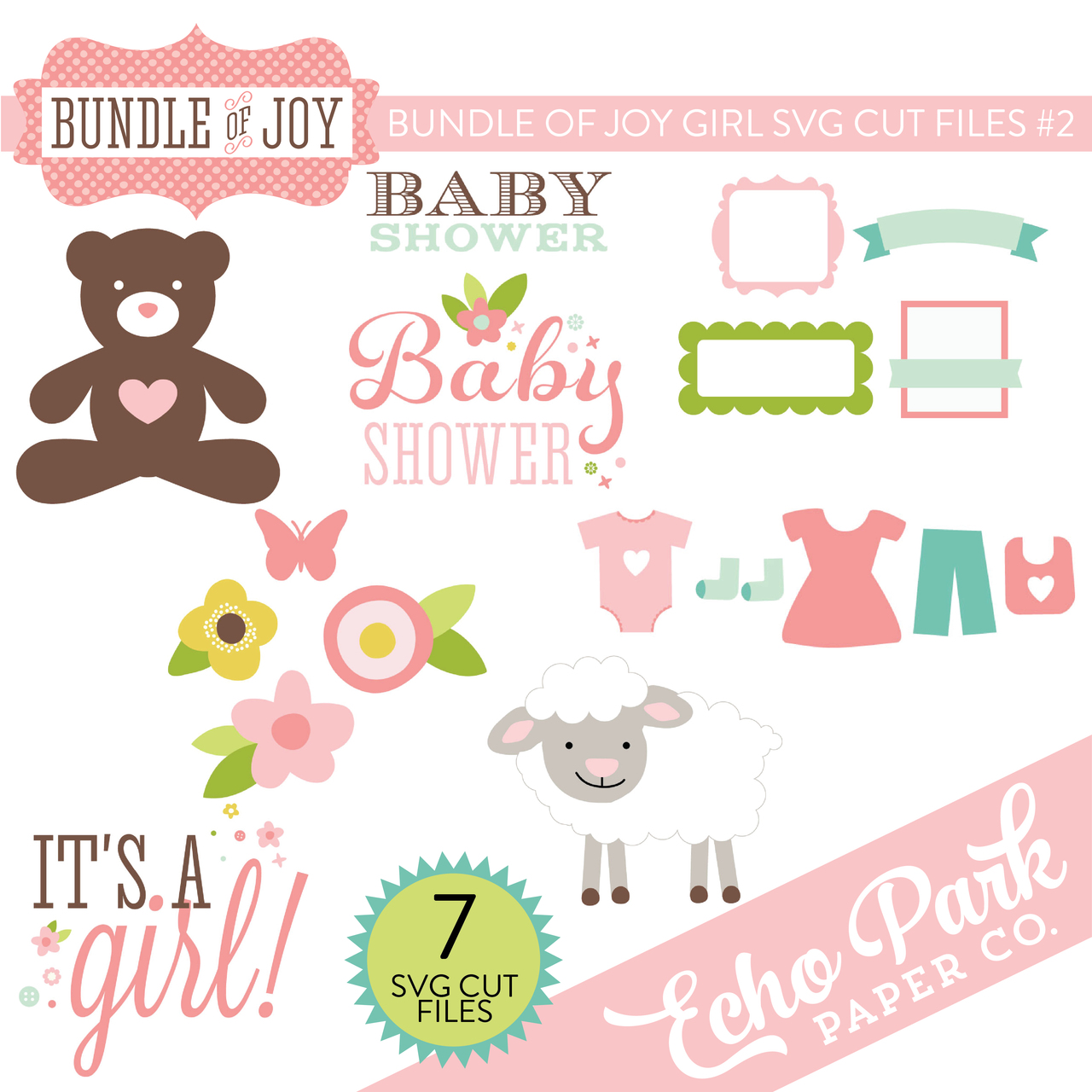 Bundle of Joy - Girl SVG Cut Files #2
