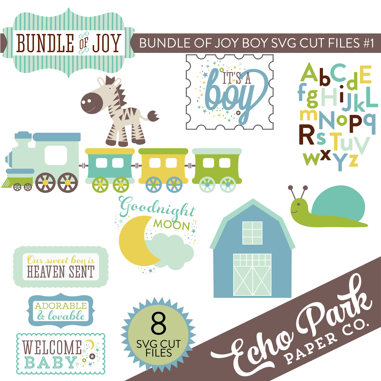 Bundle of Joy - Boy SVG Cut Files #1