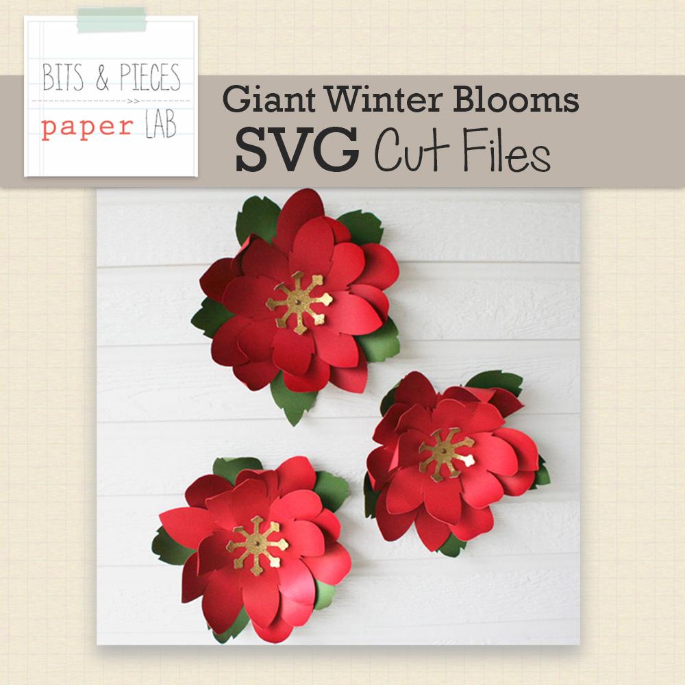 Giant Winter Bloom Cut Files