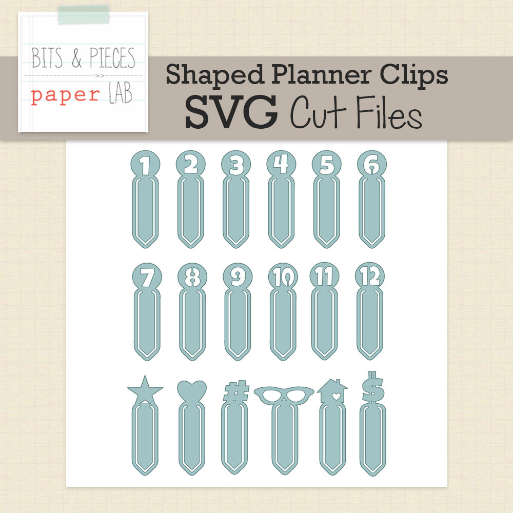 Shaped Planner Paper Clips Cut Files