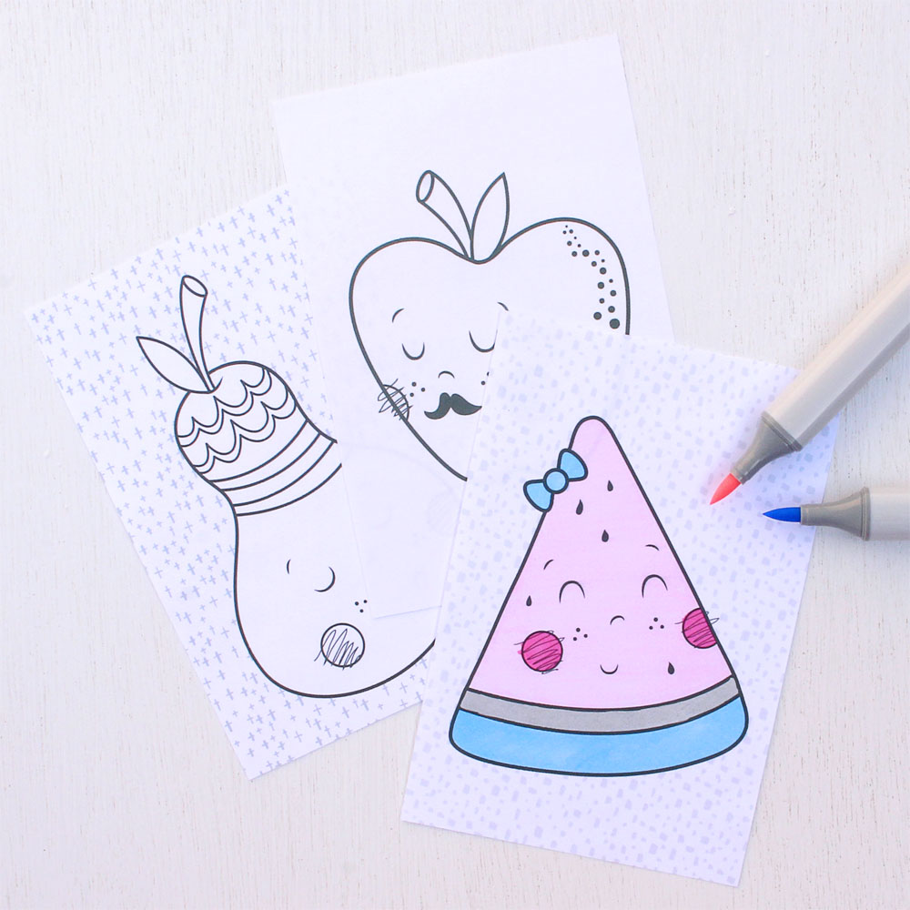 Freshly Squeezed Coloring Pages