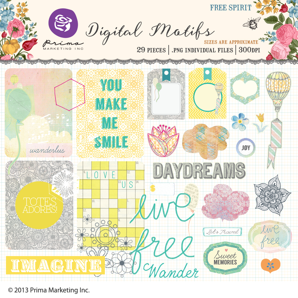 Free Spirit Digital Motifs
