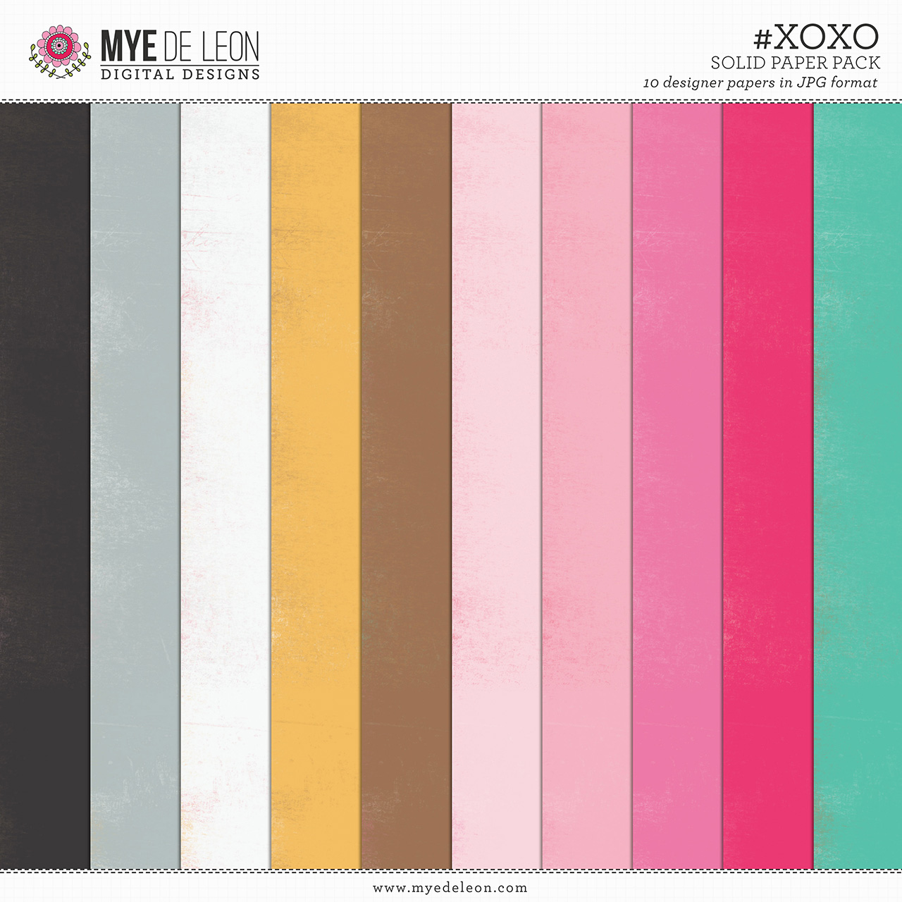 #XOXO | Solid Paper Pack