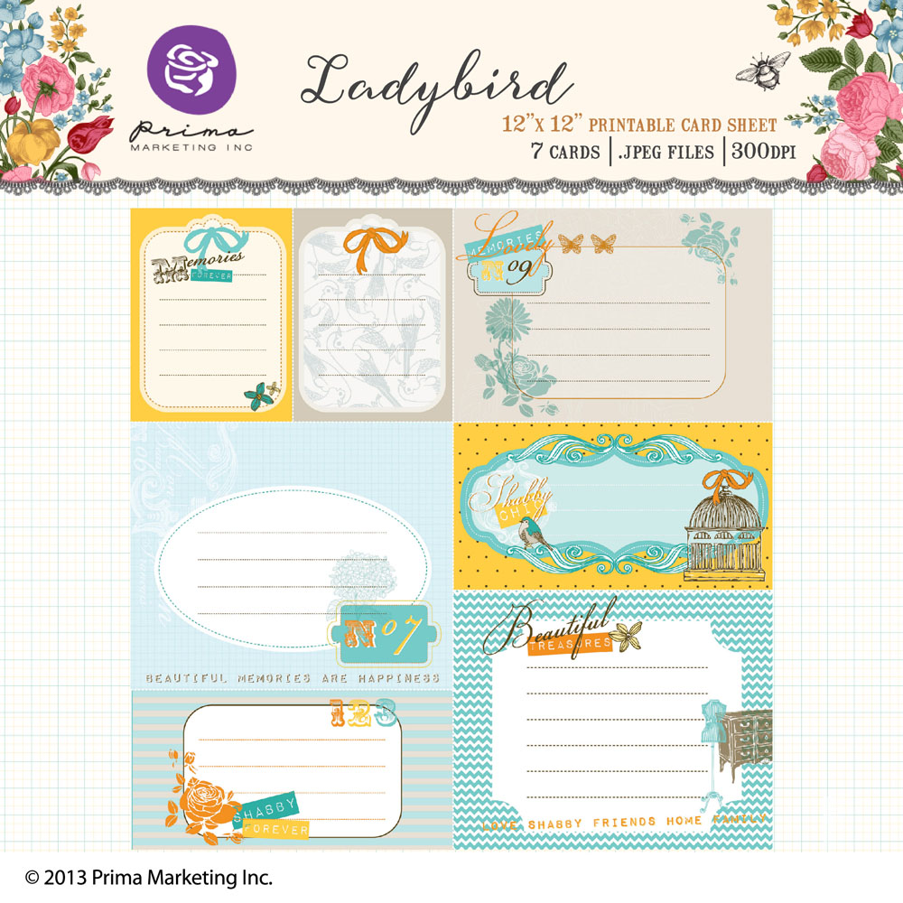 Lady Bird printable cards
