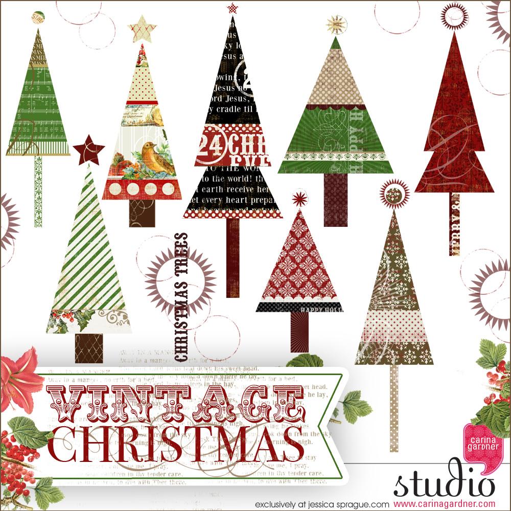 VINTAGE CHRISTMAS Christmas Trees