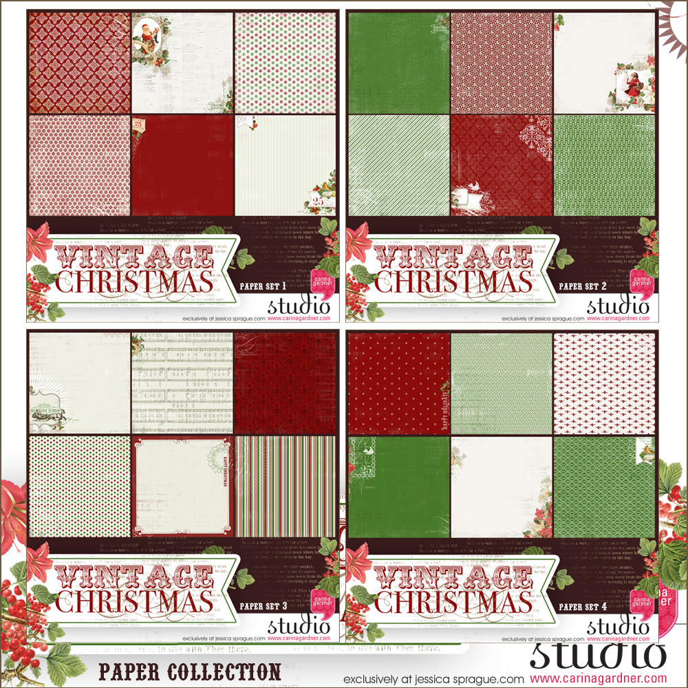 VINTAGE CHRISTMAS Mega Paper Collection