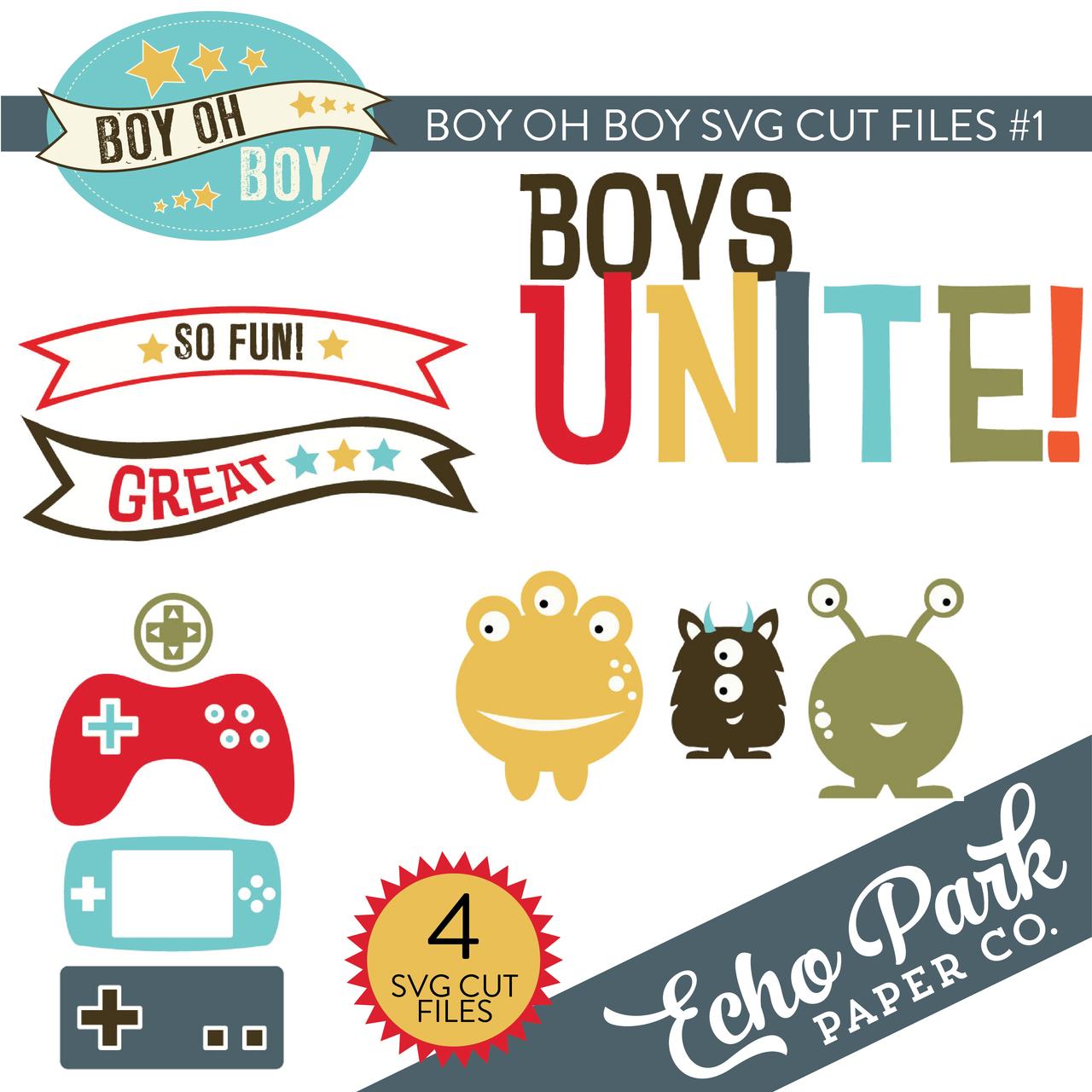 Boy Oh Boy SVG Cut Files #1