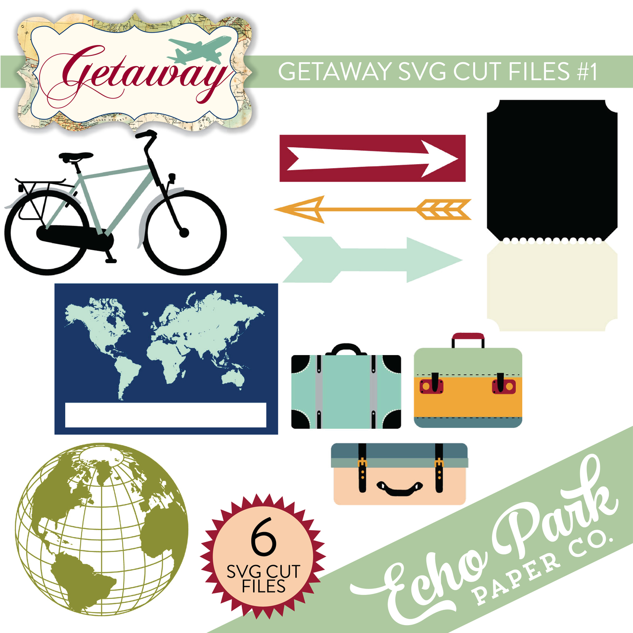 Getaway SVG Cut Files #1