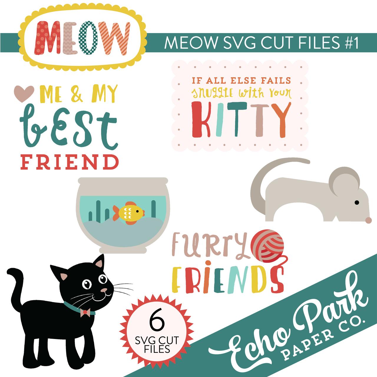 Meow SVG Cut Files #1