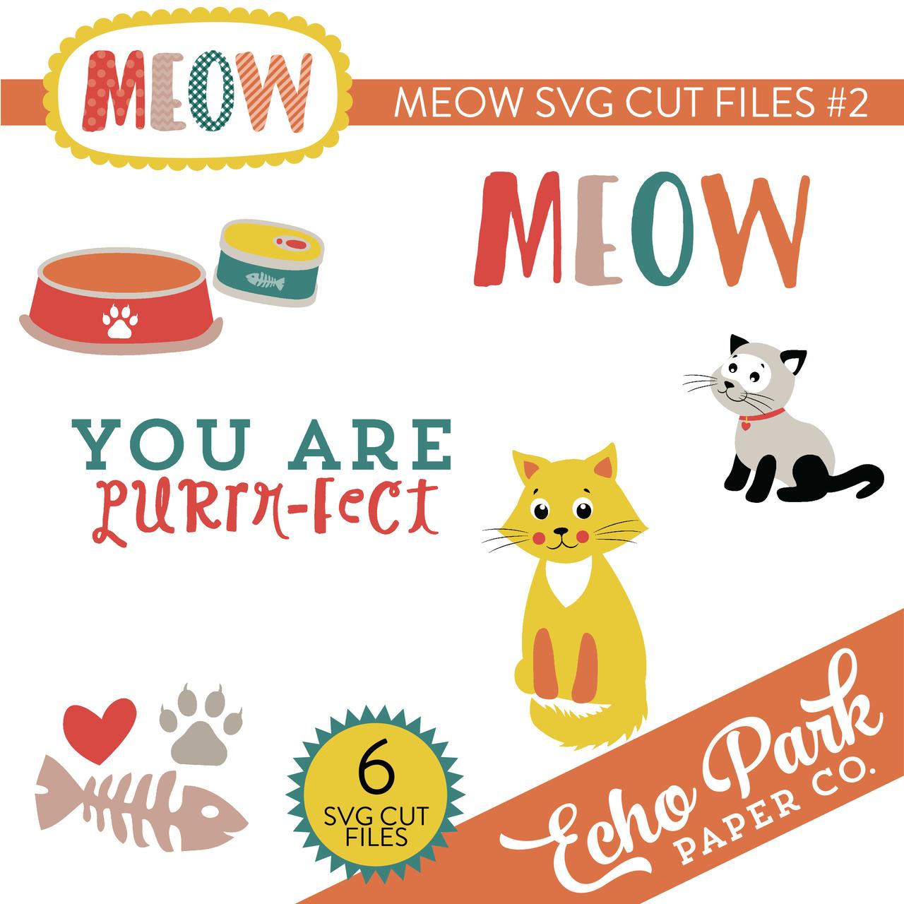 Meow SVG Cut Files #2