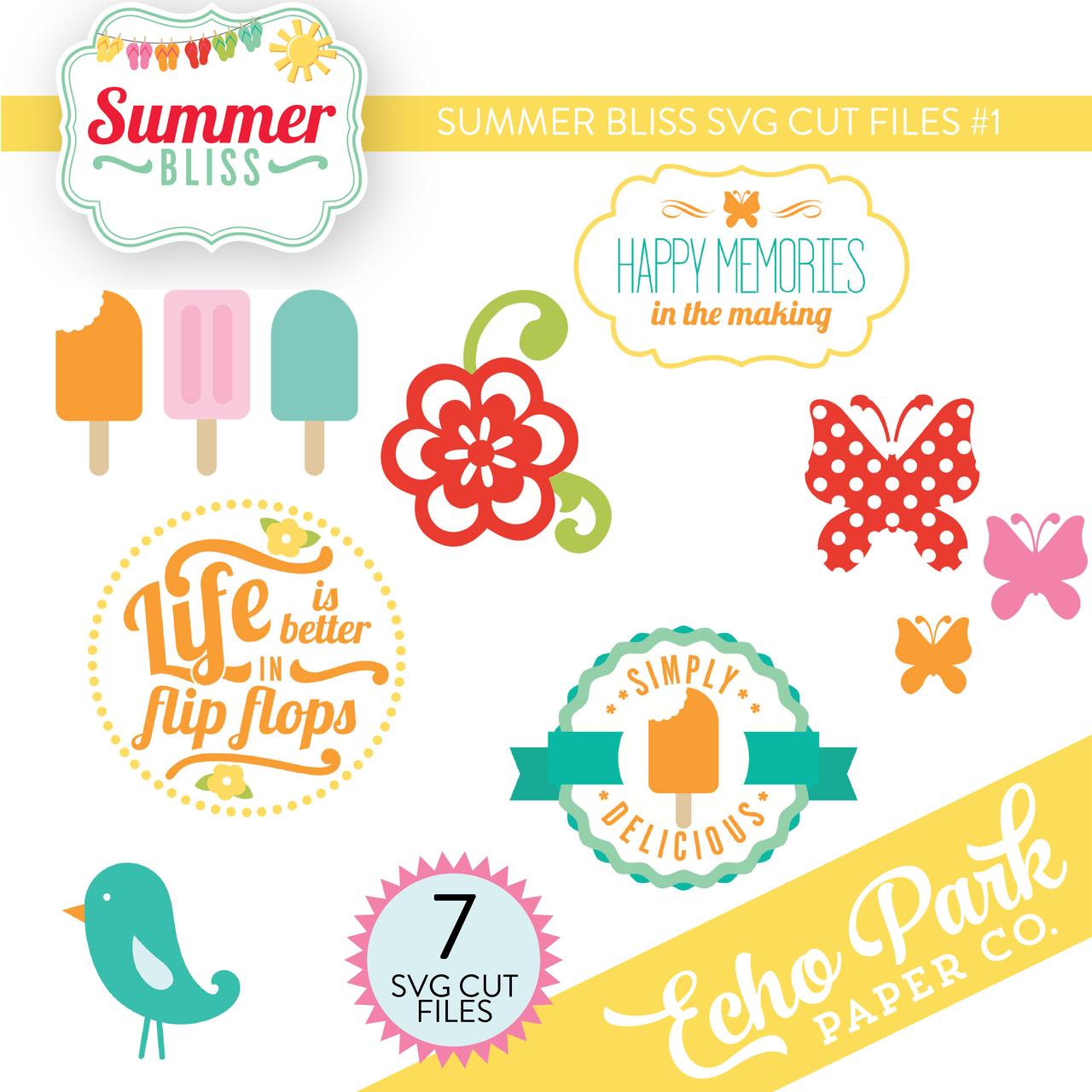 Summer Bliss SVG Cut Files #1