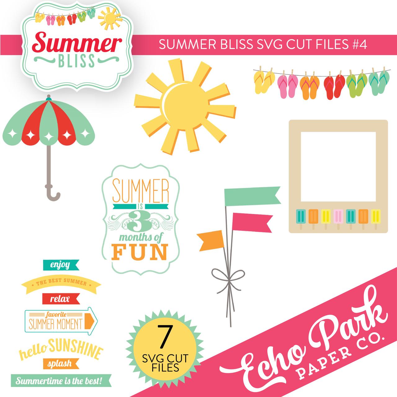 Summer Bliss SVG Cut Files #4