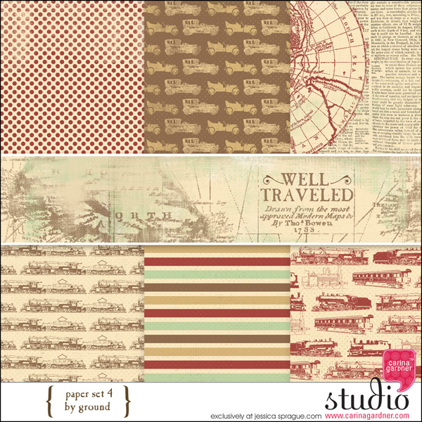 WELL TRAVELED Paper Set 4 By Ground